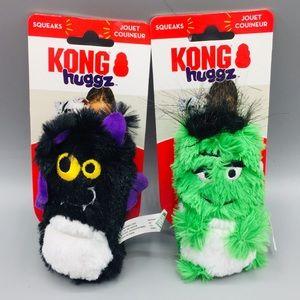 Kong Huggz Bat & Frankenstein Small Dog Toys
